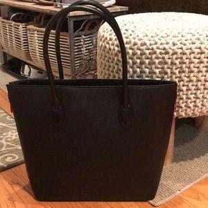 H&M Black Zip Tote Bag
